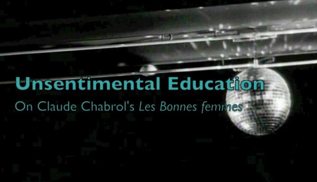 Unsentimental Education: On Chabrol's Les Bonnes Femmes de Catherine Grant